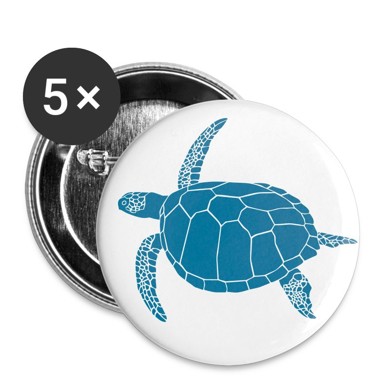 animal t-shirt sea turtle scuba diving diver marine endangered species - Large Buttons