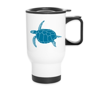 animal t-shirt sea turtle scuba diving diver marine endangered species - Travel Mug