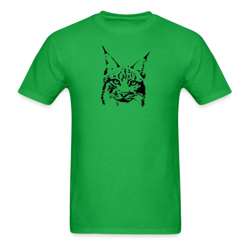 animal t-shirt lynx cougar puma jaguar cat wild predator tiger lion cheetah - Men's T-Shirt