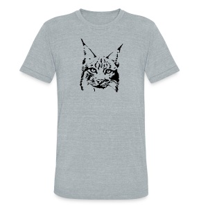 animal t-shirt lynx cougar puma jaguar cat wild predator tiger lion cheetah - Unisex Tri-Blend T-Shirt