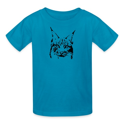 animal t-shirt lynx cougar puma jaguar cat wild predator tiger lion cheetah - Kids' T-Shirt