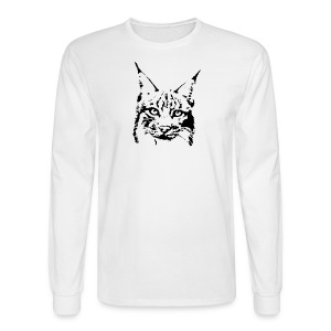 animal t-shirt lynx cougar puma jaguar cat wild predator tiger lion cheetah - Men's Long Sleeve T-Shirt