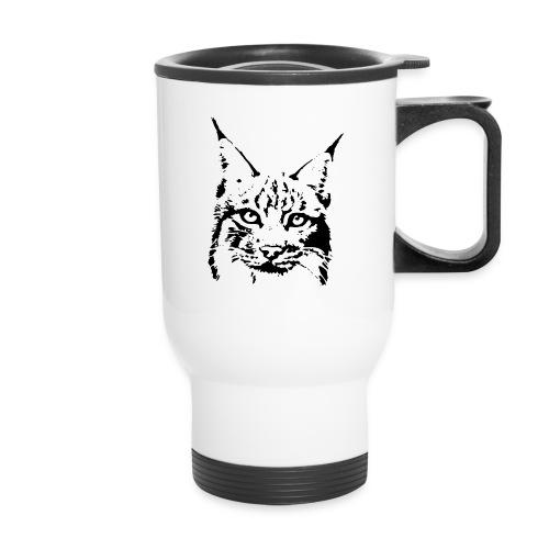 animal t-shirt lynx cougar puma jaguar cat wild predator tiger lion cheetah - Travel Mug