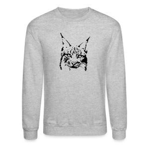 animal t-shirt lynx cougar puma jaguar cat wild predator tiger lion cheetah - Crewneck Sweatshirt