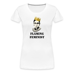 Flaming Feminist Litigator - Women's Premium T-Shirt