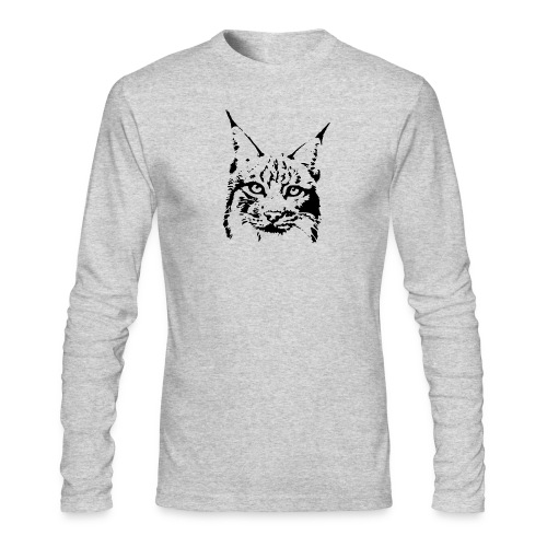 animal t-shirt lynx cougar puma jaguar cat wild predator tiger lion cheetah - Men's Long Sleeve T-Shirt by Next Level