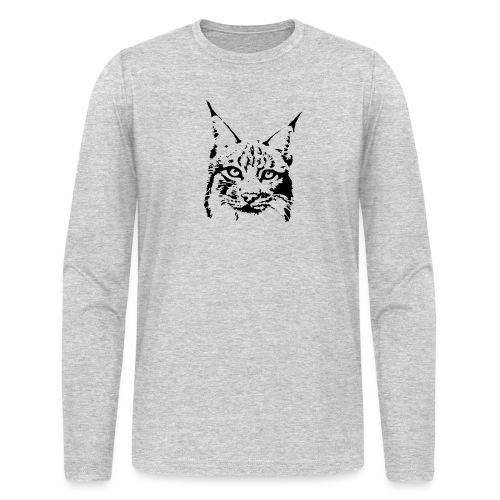 animal t-shirt lynx cougar puma jaguar cat wild predator tiger lion cheetah - Men's Long Sleeve T-Shirt by Next Level