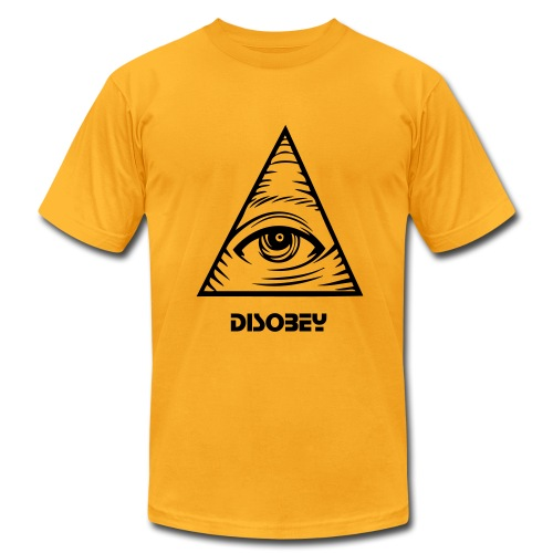 triangle eye disobey - Men's Fine Jersey T-Shirt