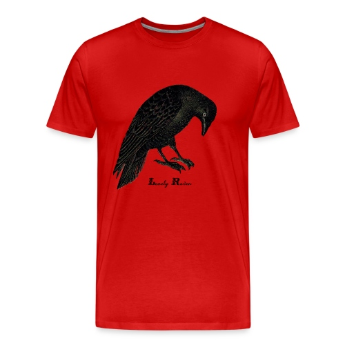 Men's Premium T-Shirt - raven. crow,lonely,horror,alone