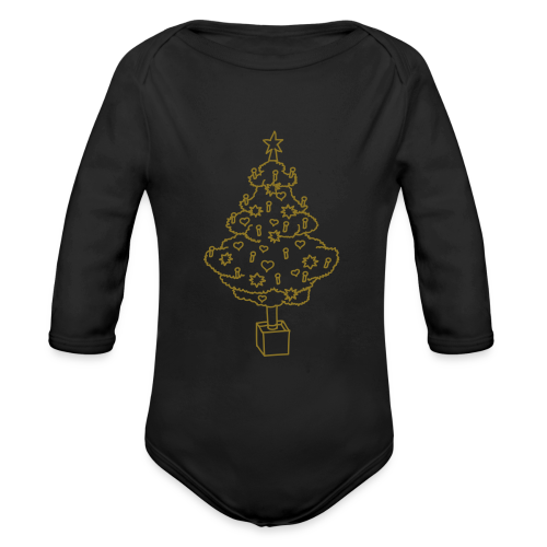 CHRISTMAS TREE 2 - Organic Long Sleeve Baby Bodysuit