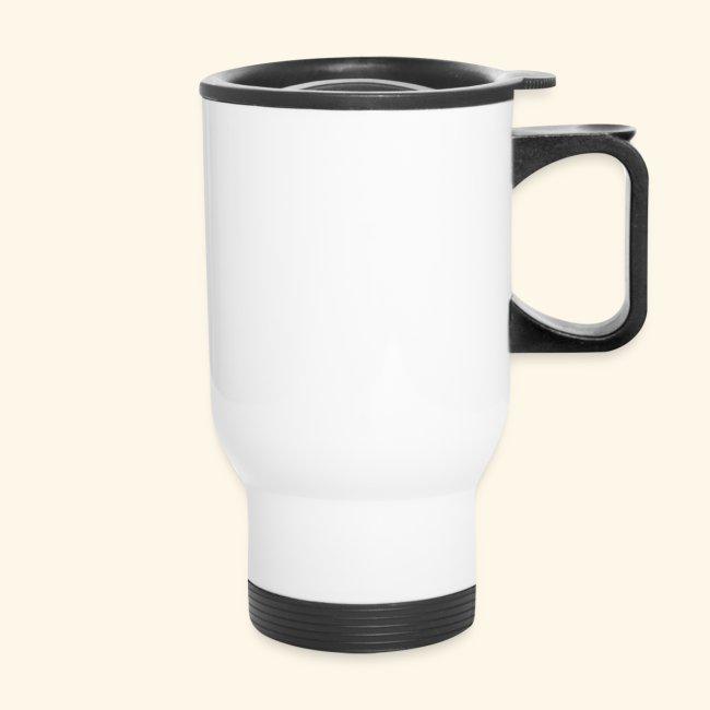 White Stainless Steel Travel Mug