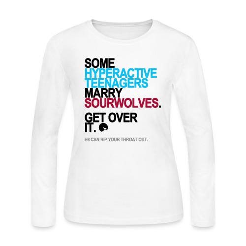 Some Teenagers Marry Sourwolves Long Sleeve White - Women's Long Sleeve Jersey T-Shirt