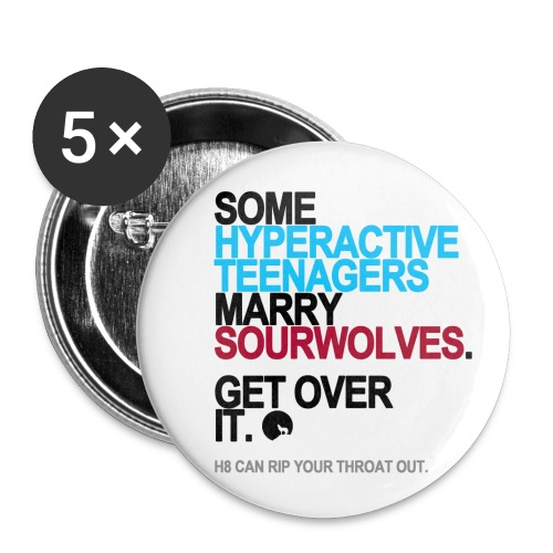 Some Teenagers Marry Sourwolves Buttons - Buttons small 1'' (5-pack)