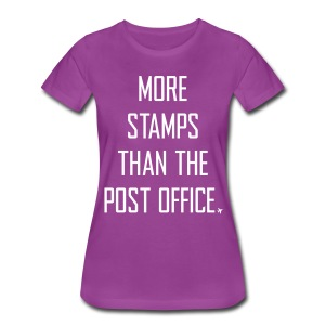 More stamps than the post office - Women's Premium T-Shirt