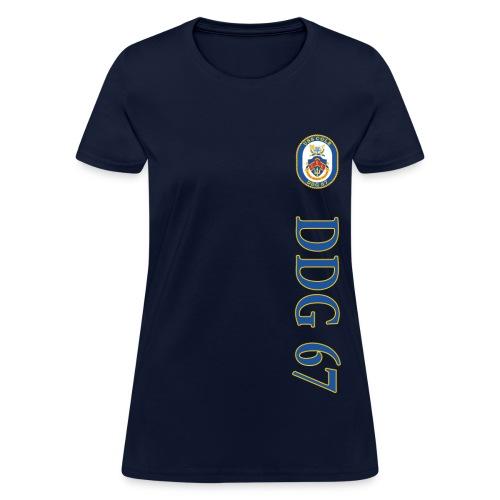 USS COLE DDG-67 VERTICAL STRIPE SHIRT - WOMENS - Women's T-Shirt