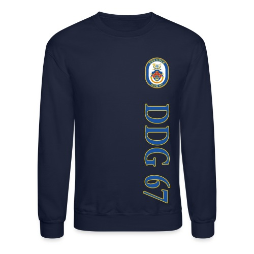 USS COLE DDG-67 VERTICAL STRIPE SWEATSHIRT - Crewneck Sweatshirt