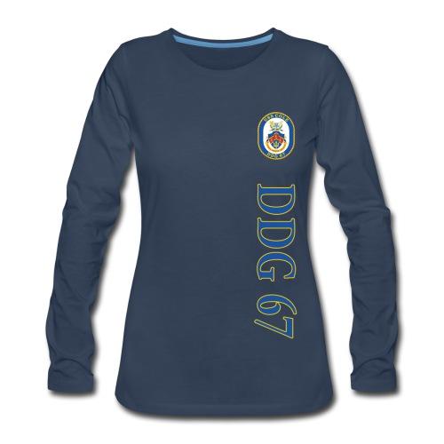 USS COLE DDG-67 VERTICAL STRIPE LONG SLEEVE - WOMENS - Women's Premium Long Sleeve T-Shirt