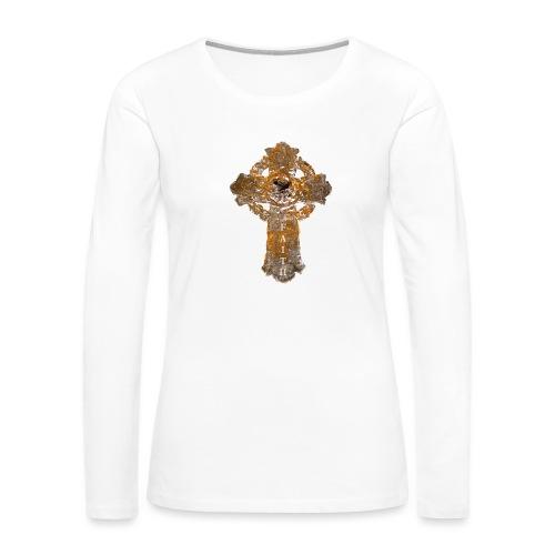 Cross_01PNG_text - Women's Premium Long Sleeve T-Shirt