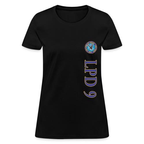 USS DENVER LPD-9 VERTICAL STRIPE TEE - WOMENS - Women's T-Shirt