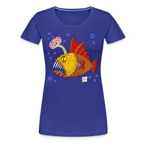 donut fish - Women's Premium T-Shirt