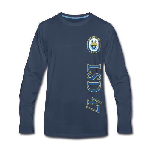 USS RUSHMORE LSD-47 LONG SLEEVE - Men's Premium Long Sleeve T-Shirt