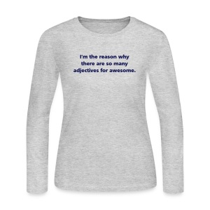 WOMENS LONG: Adjectives for awesome  - Women's Long Sleeve Jersey T-Shirt