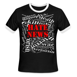 Hate news - Men's Ringer T-Shirt