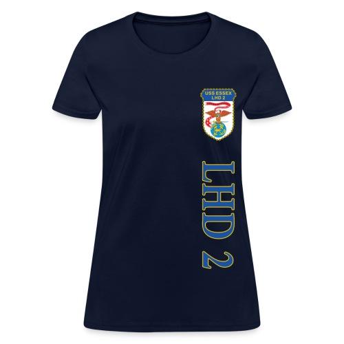 USS ESSEX LHD-2 VERTICAL STRIPE TEE - WOMENS - Women's T-Shirt