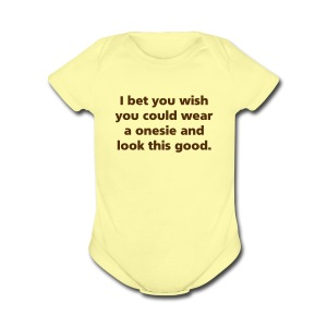 BABY: Wear a 0nesie - Short Sleeve Baby Bodysuit