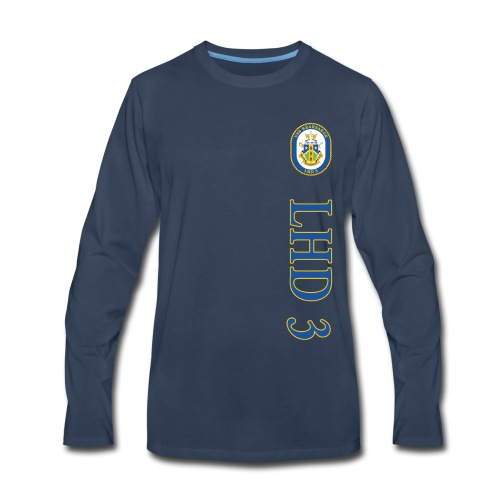 USS KEARSARGE LHD-3 STRIPE LONG SLEEEVE - Men's Premium Long Sleeve T-Shirt