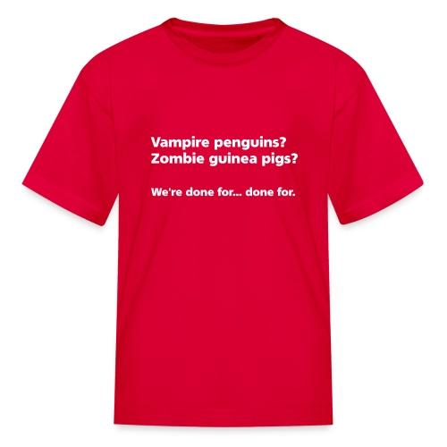 CHILD: Vampire penguins? Zombie guinea pigs? - Kids' T-Shirt