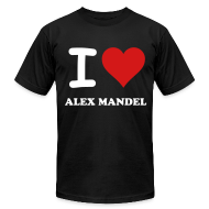 T-Shirts ~ Men's T-Shirt by American Apparel ~ I Love Alex Mandel - American Apparel