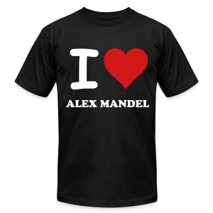 I Love Alex Mandel - American Apparel - Men's T-Shirt by American Apparel