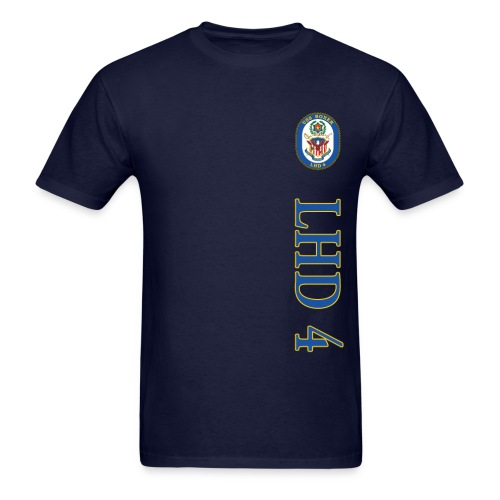 USS BOXER LHD-4 VERTICAL STRIPE TEE - Men's T-Shirt