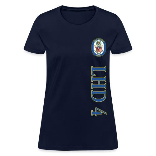 USS BOXER LHD-4 VERTICAL STRIPE TEE - WOMENS - Women's T-Shirt
