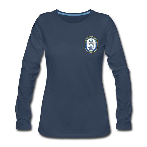 USS MAKIN ISLAND LHD-8 LONG SLEEVE - WOMENS - Women's Premium Long Sleeve T-Shirt