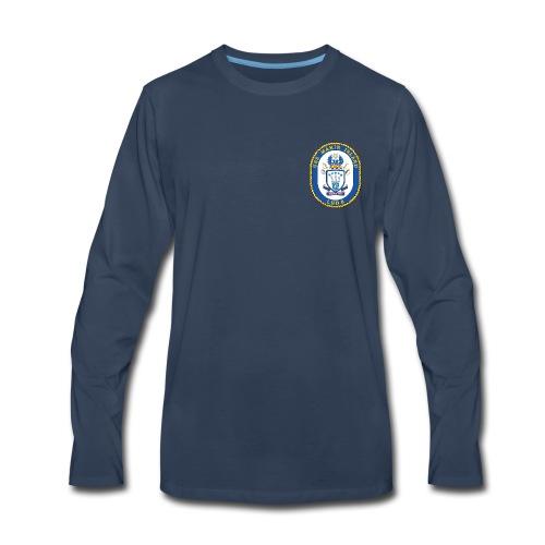USS MAKIN ISLAND LHD-8 LONG SLEEVE  - Men's Premium Long Sleeve T-Shirt