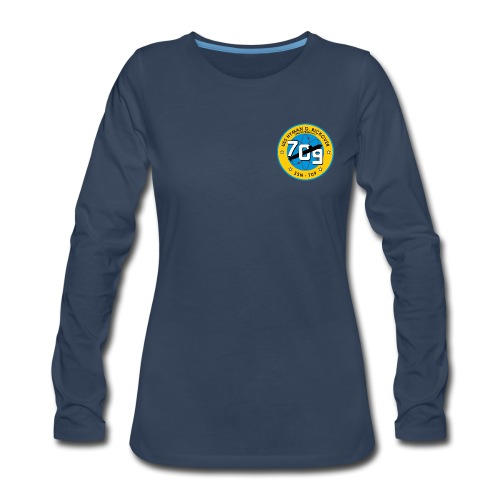 USS HYMAN G RICKOVER SSN-709 LONG SLEEVE - WOMENS - Women's Premium Long Sleeve T-Shirt