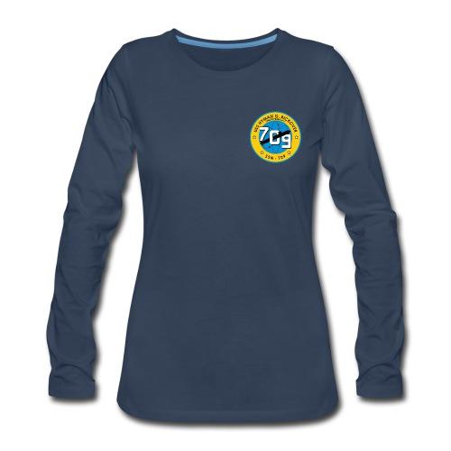 USS HYMAN G RICKOVER SSN-709 LONG SLEEVE - WOMENS - Women's Premium Long Sleeve T-Shirt