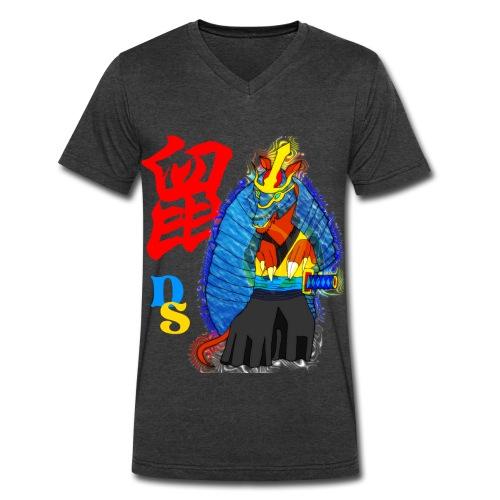 Rat Zodiac: Samuridillo  - Men's V-Neck T-Shirt by Canvas