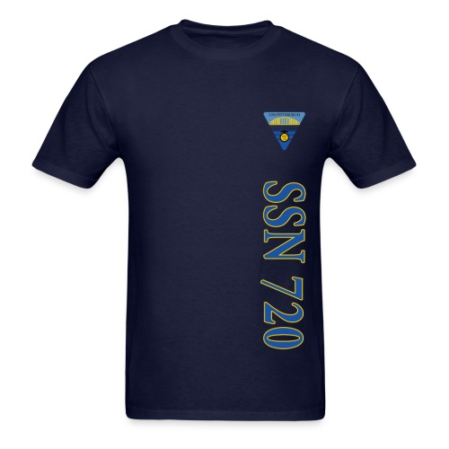 USS PITTSBURGH SSN-720 VERTICAL STRIPE TEE - Men's T-Shirt