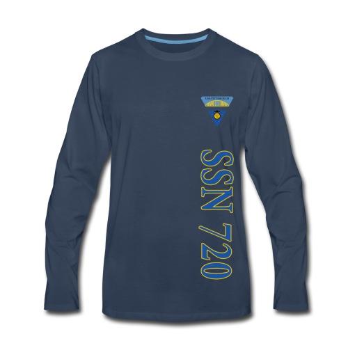 USS PITTSBURGH SSN-720 VERTICAL STRIPE LONG SLEEVE - Men's Premium Long Sleeve T-Shirt
