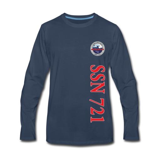 USS CHICAGO SSN-721 VERTICAL STRIPE LONG SLEEVE - Men's Premium Long Sleeve T-Shirt