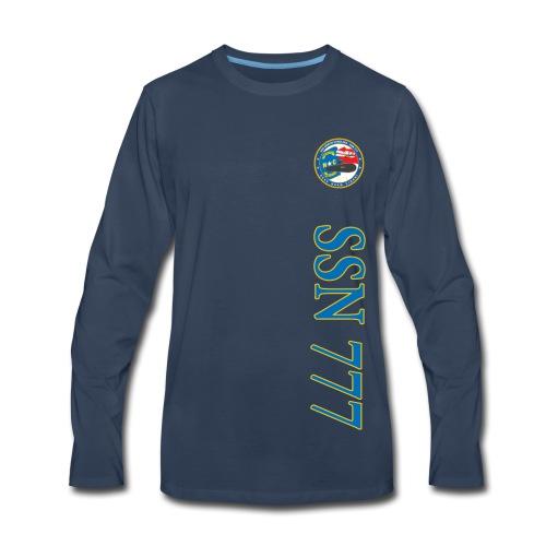 USS NORTH CAROLINA SSN-777 VERTICAL STRIPE LONG SLEEVE - Men's Premium Long Sleeve T-Shirt