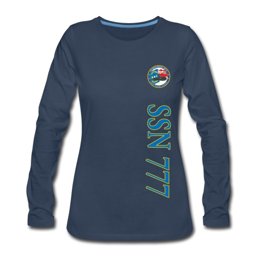 USS NORTH CAROLINA SSN-777 VERTICAL STRIPE LONG SLEEVE - WOMENS - Women's Premium Long Sleeve T-Shirt