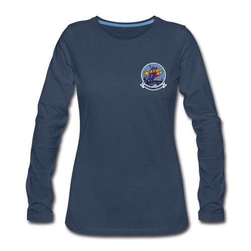 USS HORNET CVS-12 LONG SLEEVE - WOMENS - Women's Premium Long Sleeve T-Shirt