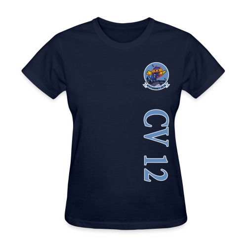 USS HORNET CV-12 VERTICAL STRIPE TEE - WOMENS - Women's T-Shirt