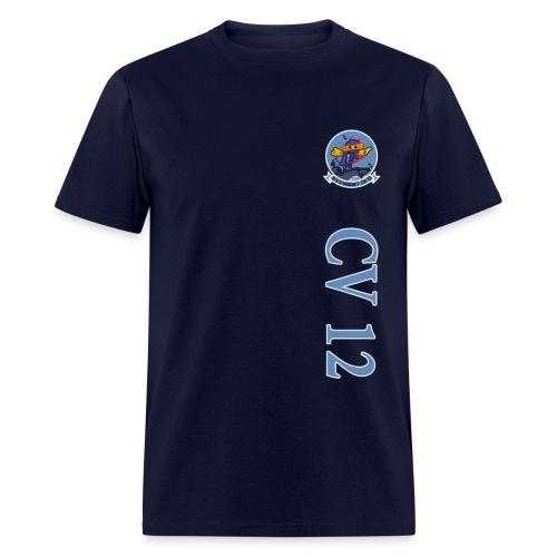 USS HORNET CV-12 VERTICAL STRIPE TEE - Men's T-Shirt