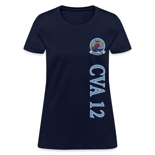 USS HORNET CVA-12 VERTICAL STRIPE TEE - WOMENS - Women's T-Shirt