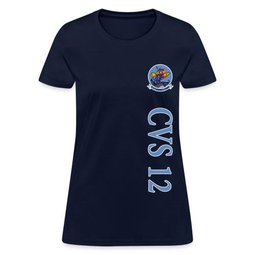 USS HORNET CVS-12 VERTICAL STRIPE TEE - WOMENS - Women's T-Shirt